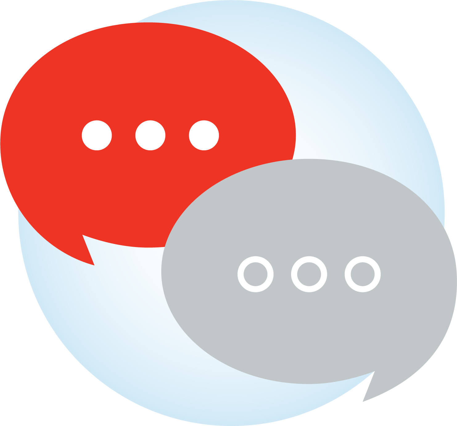 two chat bubbles